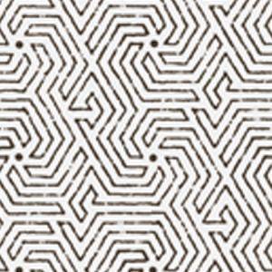 2510-11WP MAZE Black Quadrille Wallpaper