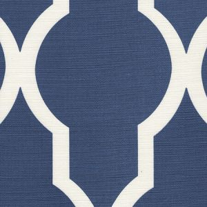 303715F-09 MIRADOR REVERSE ONE COLOR New Navy on Tint Quadrille Fabric