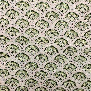NAOMI Green Magnolia Fabric