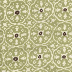 149-40WP NITIK II Sage Green Brown On Almost White Quadrille Wallpaper