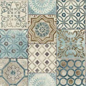 NW30002 Morocaan Tile Seabrook Wallpaper