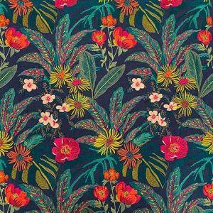 OLGA Midnight Magnolia Fabric