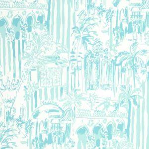 P2016101-13 LA VIA LOCA Pool Blue Lee Jofa Wallpaper