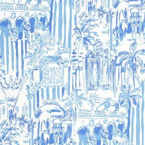 P2016101-15 LA VIA LOCA Beach Blue Lee Jofa Wallpaper
