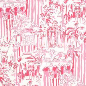 P2016101-17 LA VIA LOCA Hotty Pink Lee Jofa Wallpaper
