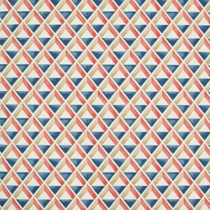 P2018108-195 CANNES PAPER Red Blue Lee Jofa Wallpaper