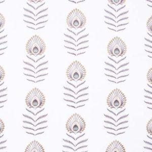 PEACOCK FEATHER Ivory Carole Fabric