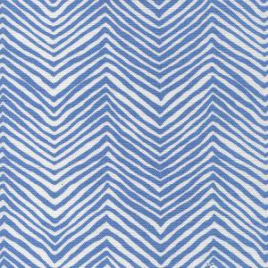 AC303-15W PETITE ZIG ZAG French Blue on White Quadrille Fabric
