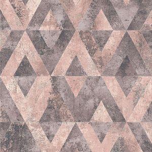 RH535532 Shikhar Rasberry Geometric Brewster Wallpaper