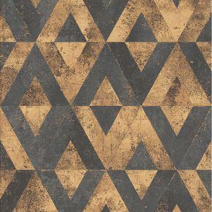 RH535556 Shikhar Gold Geometric Brewster Wallpaper