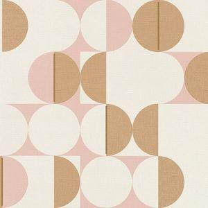 RH538007 Cakara Blush Geometric Brewster Wallpaper