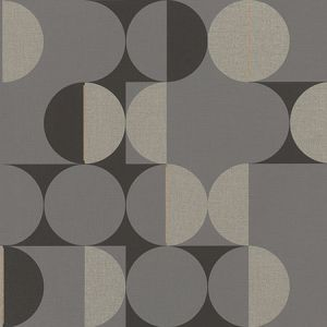 RH538052 Cakara Grey Geometric Brewster Wallpaper
