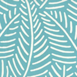 CP1025W-03 SAUVAGE REVERSE Dark Turquoise On Almost White Quadrille Wallpaper