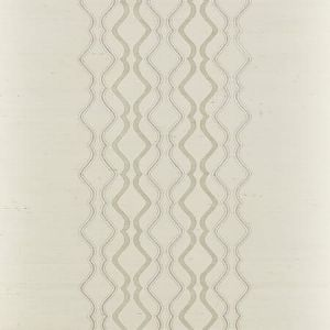 SC 0001 WP88447 VALENTINA EMBELLISHED SISAL Frost Scalamandre Wallpaper