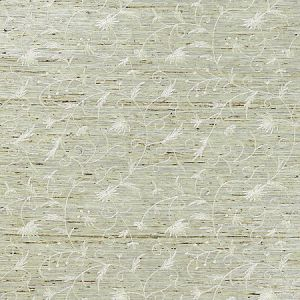 SC 0001WP88384 WP88384-001 OLIVIA EMBROIDERED GRASSCLOTH Winter Wheat Scalamandre Wallpaper