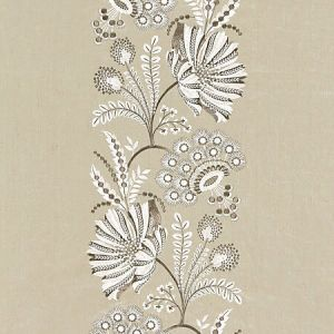 27162-002 ANNELISE EMBROIDERY Flax Scalamandre Fabric