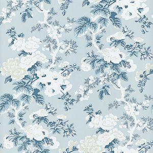 SC 0002WP88372 WP88372-002 ASCOT FLORAL PRINT Sky Scalamandre Wallpaper
