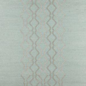 SC 0003 WP88447 VALENTINA EMBELLISHED SISAL Seaglass Scalamandre Wallpaper