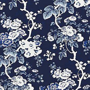 SC 0004WP88372 WP88372-004 ASCOT FLORAL PRINT Indigo Scalamandre Wallpaper