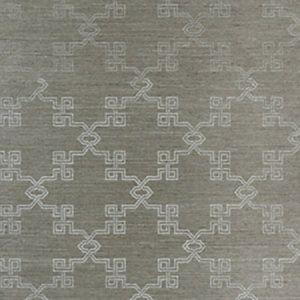 SC 0004WP88374 WP88374-004 SUZHOU LATTICE SISAL Silver On Pewter Scalamandre Wallpaper