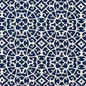 16559-005 ANSHUN LATTICE Indigo Scalamandre Fabric