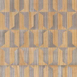 SC 0001 WP88462 MEZZO - WOOD Natural & Nickel Scalamandre Wallpaper