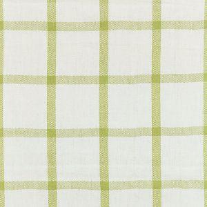 27152-002 WILTON LINEN CHECK Green Tea Scalamandre Fabric