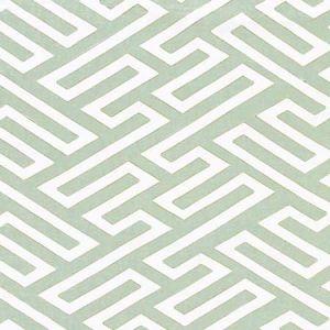 27218-002 CANTON FRET APPLIQUE Eucalyptus Scalamandre Fabric