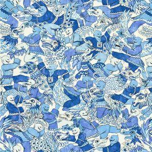 16612-003 DRAGON DANCE Porcelain Scalamandre Fabric