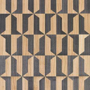 SC 0003 WP88462 MEZZO - WOOD Natural & Slate Scalamandre Wallpaper
