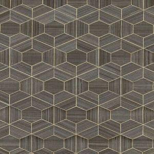 SC 0003 WP88469 HIVE - ABACA Graphite Scalamandre Wallpaper