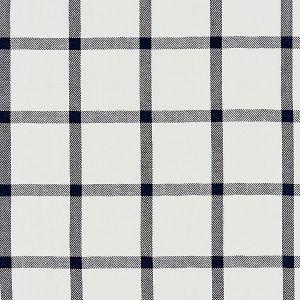 27152-004 WILTON LINEN CHECK Navy Scalamandre Fabric