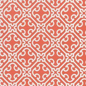 27214-004 AILIN LATTICE WEAVE Coral Scalamandre Fabric