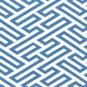 27218-004 CANTON FRET APPLIQUE Porcelain Scalamandre Fabric