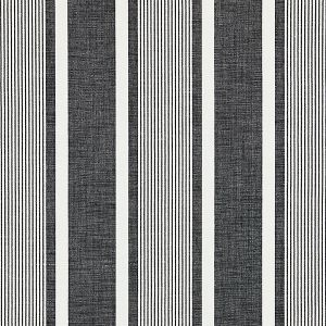 27110-005 WELLFLEET STRIPE Carbon Scalamandre Fabric