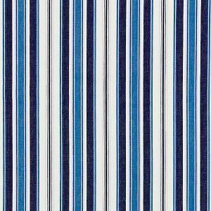 27113-005 ANDOVER COTTON STRIPE Indigo Scalamandre Fabric