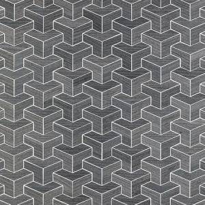 SC 0005 WP88472 FORTE - WOOD Steel Scalamandre Wallpaper
