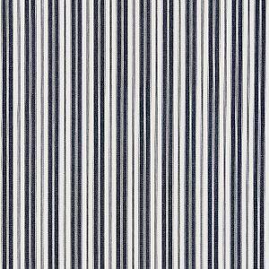 27115-006 DEVON TICKING STRIPE Indigo Scalamandre Fabric
