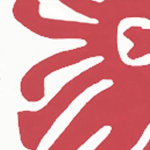 2470-02WP SIGOURNEY Red On White Quadrille Wallpaper