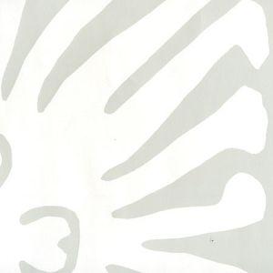 2480-13WP SIGOURNEY REVERSE LARGE SCALE Gray On White Quadrille Wallpaper