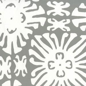2485WP-06 SIGOURNEY REVERSE SMALL SCALE Gray On White Quadrille Wallpaper