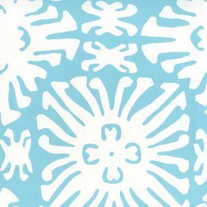 2485WP-01 SIGOURNEY REVERSE SMALL SCALE Turquoise On White Quadrille Wallpaper