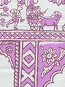 6250-03 SULTAN II Lilac on White Quadrille Fabric