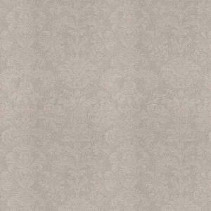 TUFA DAMASK Pewter Sheen Fabricut Fabric