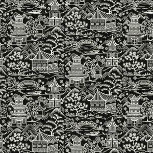 UPSALA 2 BLACK/WHITE Stout Fabric