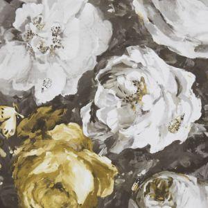 W0090/01 FLORETTA Antique Charcoal Clarke & Clarke Wallpaper