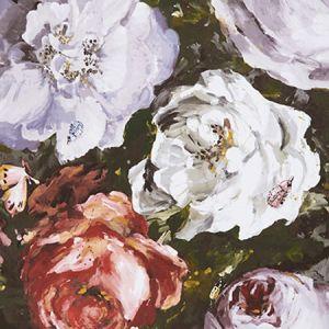 W0090/03 FLORETTA Heather Ebony Clarke & Clarke Wallpaper