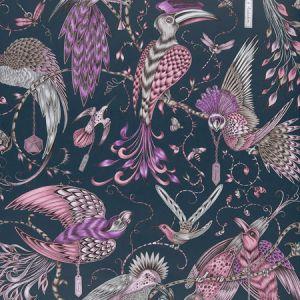 W0099/04 AUDUBON Pink Clarke & Clarke Wallpaper