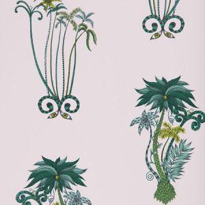 W0101/04 JUNGLE PALMS Pink Clarke & Clarke Wallpaper