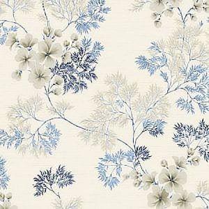 WBP10102 FLORA Indigo Winfield Thybony Wallpaper
